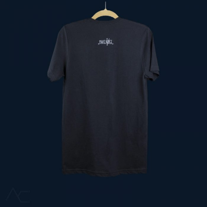 Black Cube Tshirt Back-makenoisemusic-analogcouple-webstore
