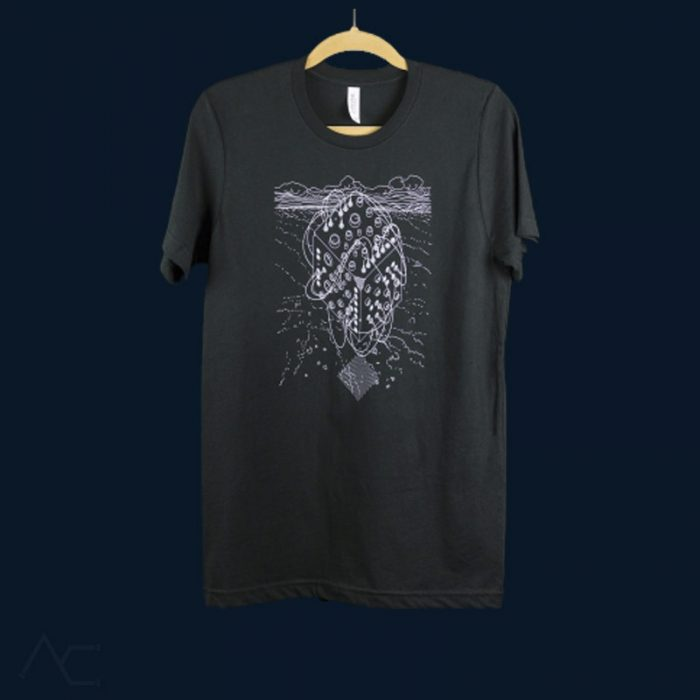 Black Cube Tshirt-makenoisemusic-analogcouple-webstore